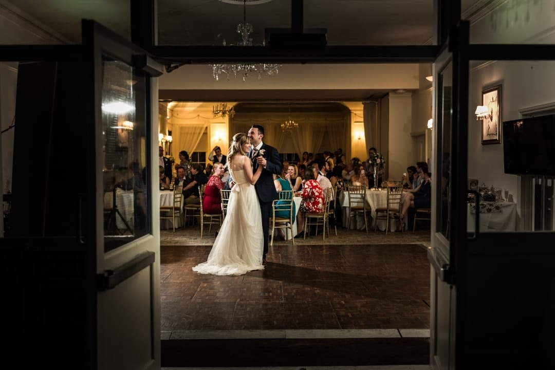 wedding first dance at peterstone court