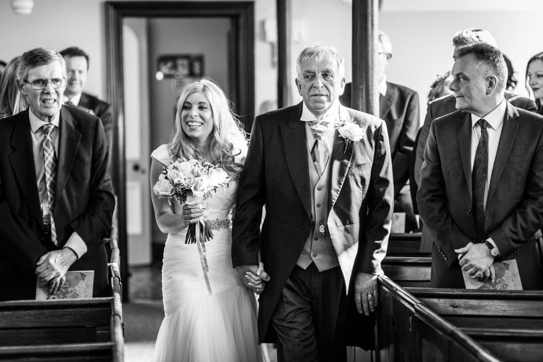 wedding ceremony at Ebenezer Chapel, Pembrokeshire