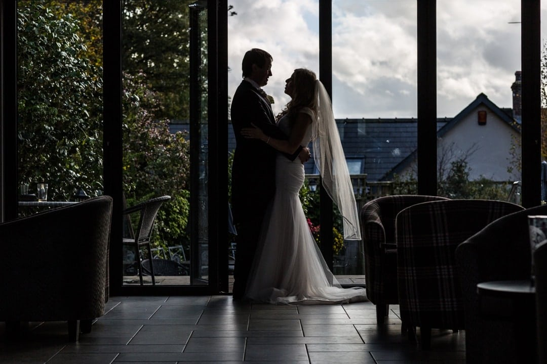 wedding couple at wolfcastle hotel
