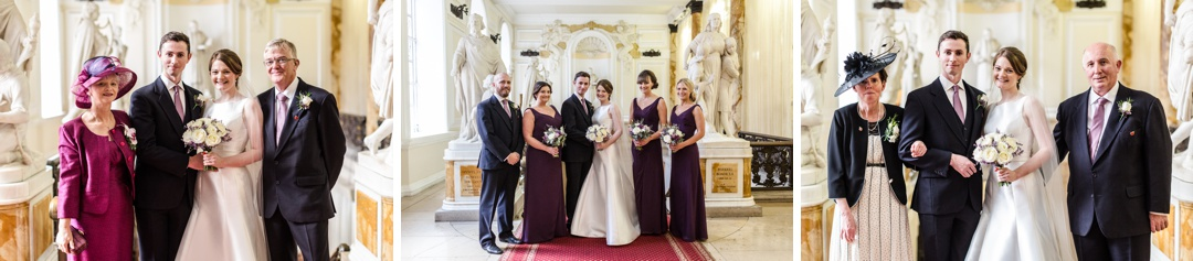 family group shots at cardiff city hall wedding