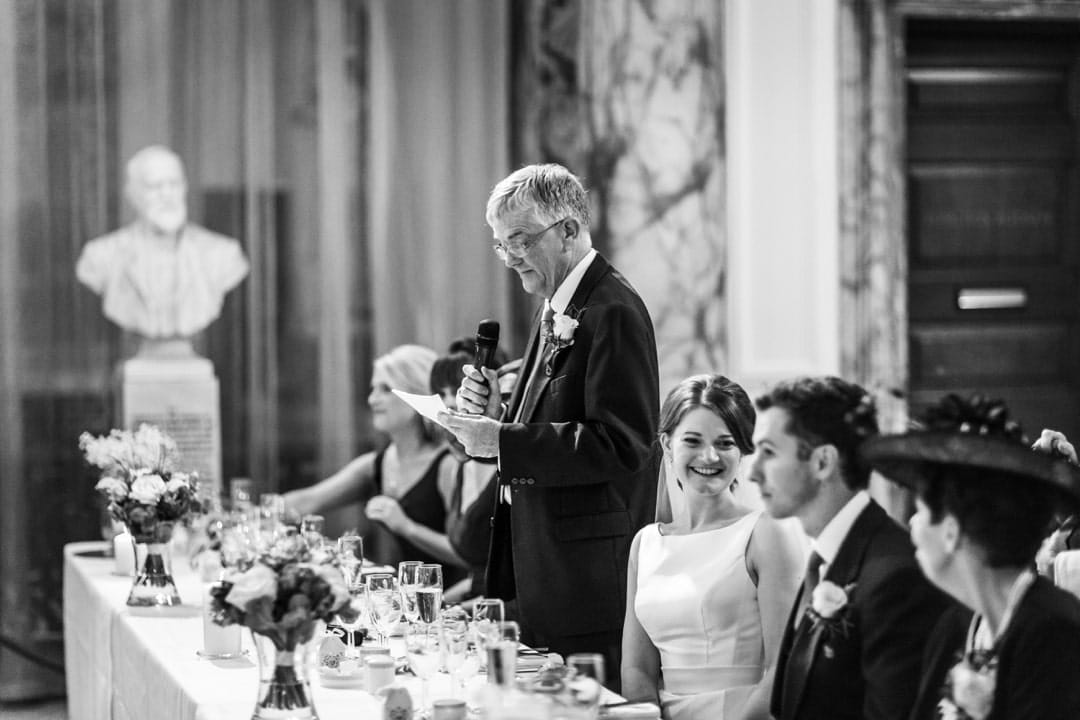 speeches at Cardiff city hall wedding