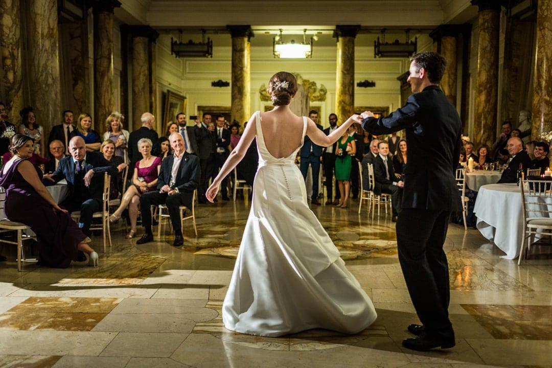 first dance at Cardiff city hall wedding