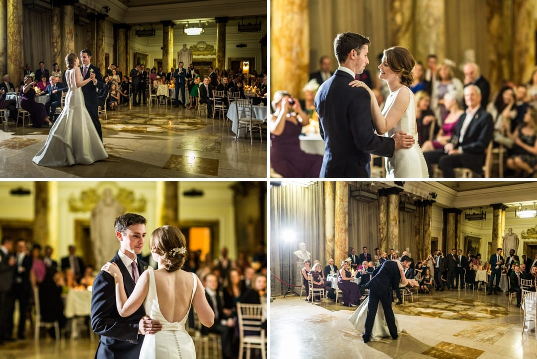 dancing at Cardiff city hall wedding