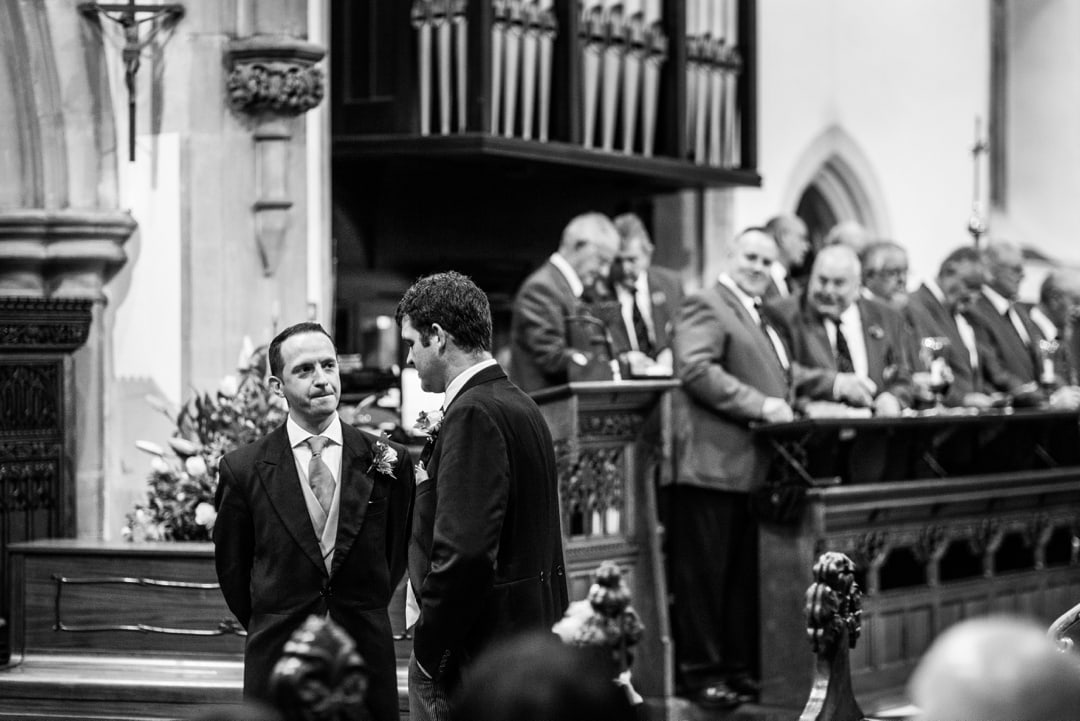 wedding at St Isaans Church in Llanishen, Cardiff