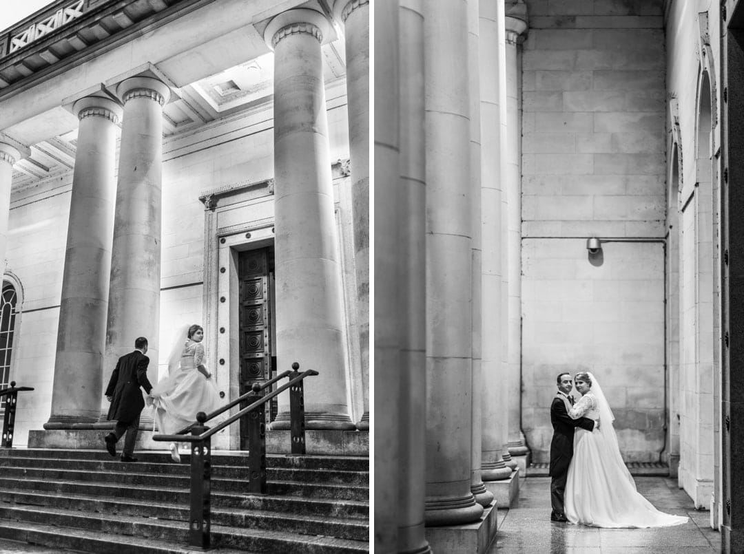wedding reception at Cardiff Museum at night