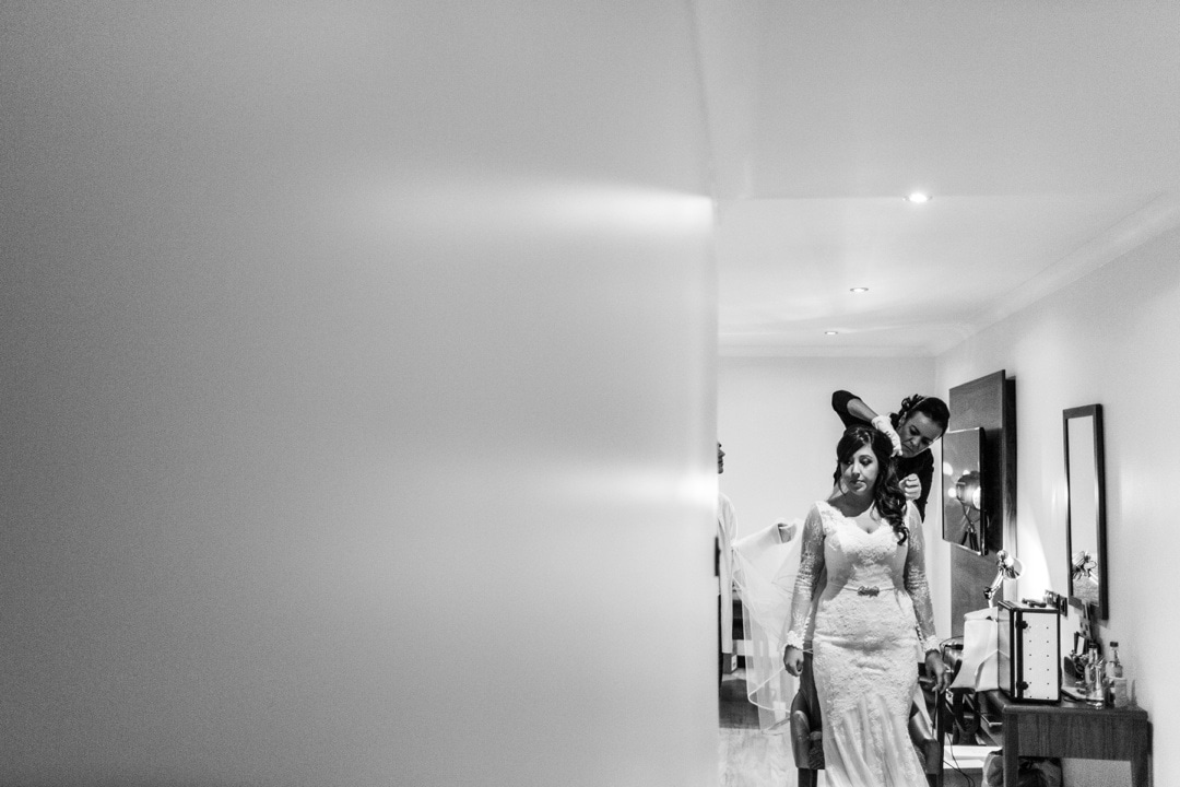 bridal preparation for hensol castle wedding