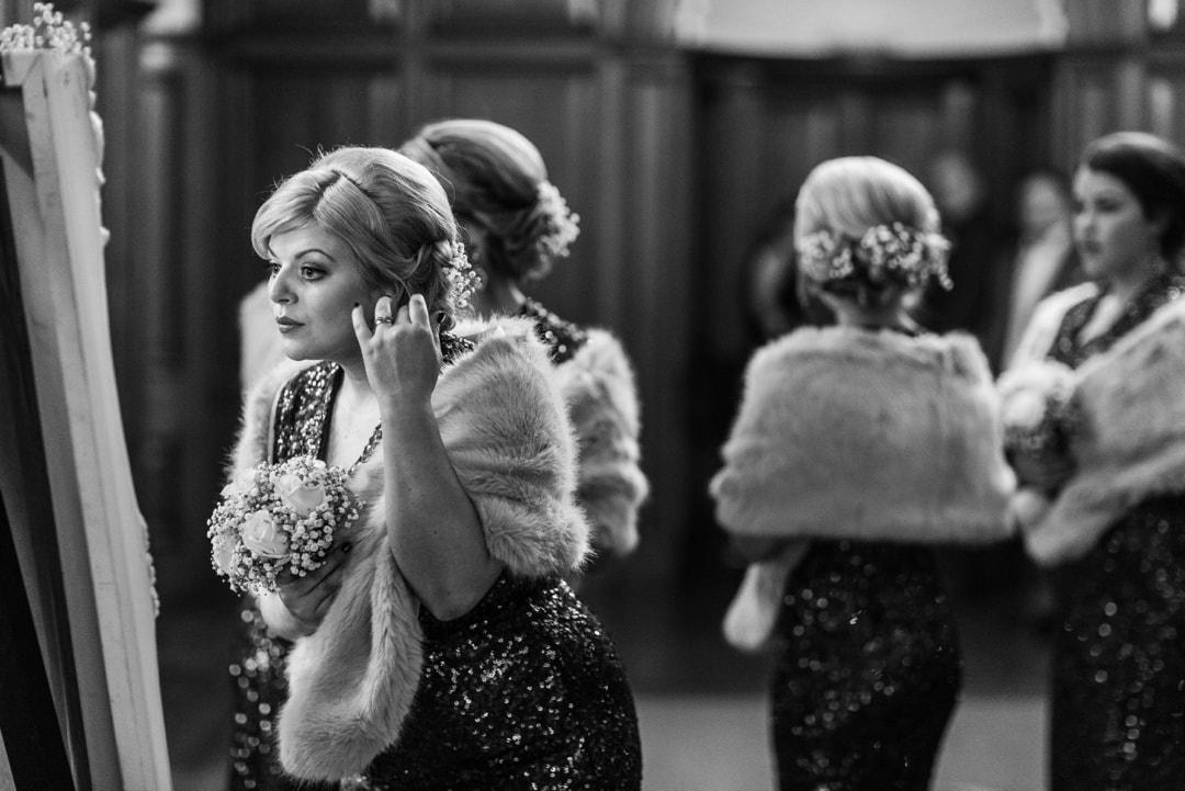 bridemaids at hensol castle wedding
