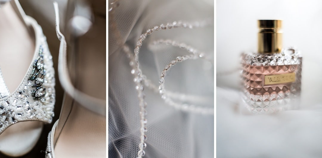 wedding dress and jewellery details