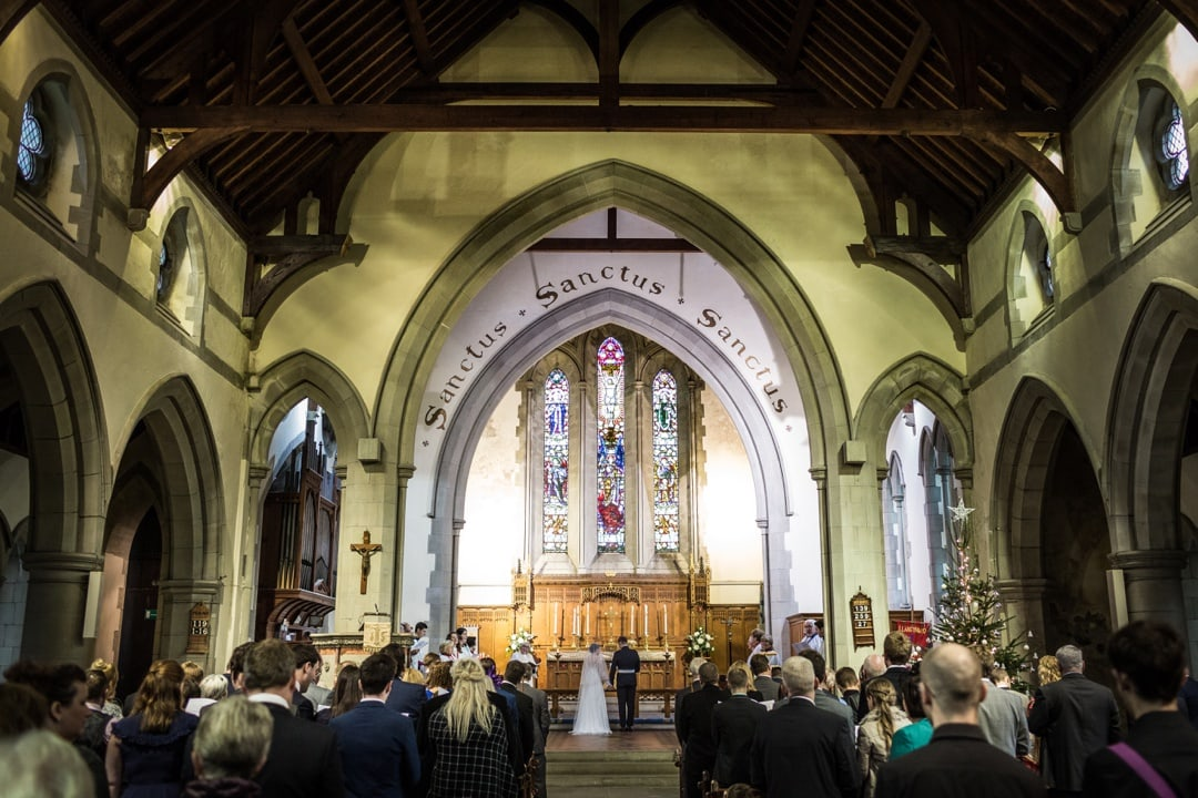 south wales church wedding ceremony