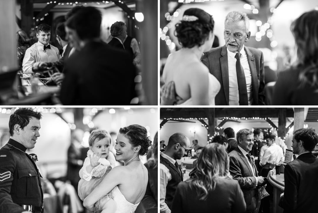 winter wedding reception at king arthur hotel gower south wales