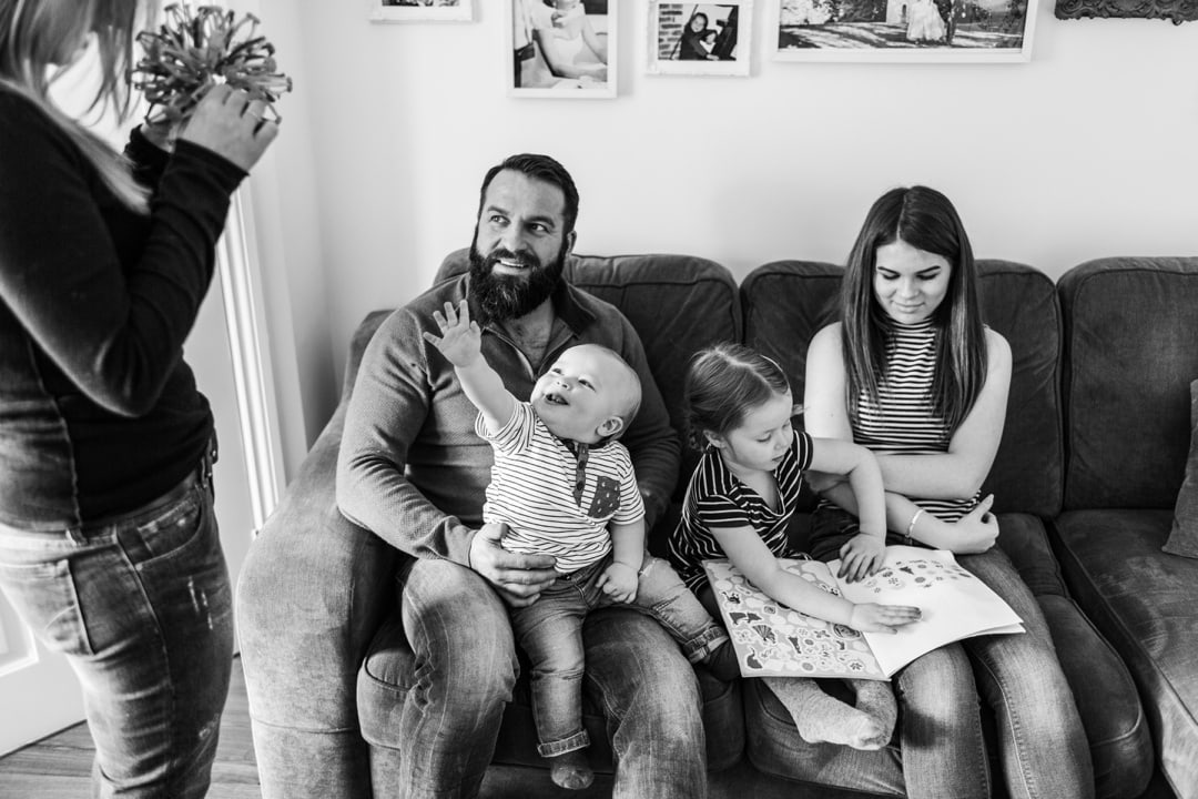 family with baby portrait