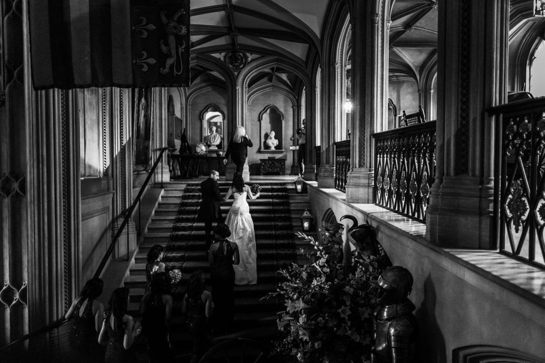 wedding ceremony at Belvoir Castle