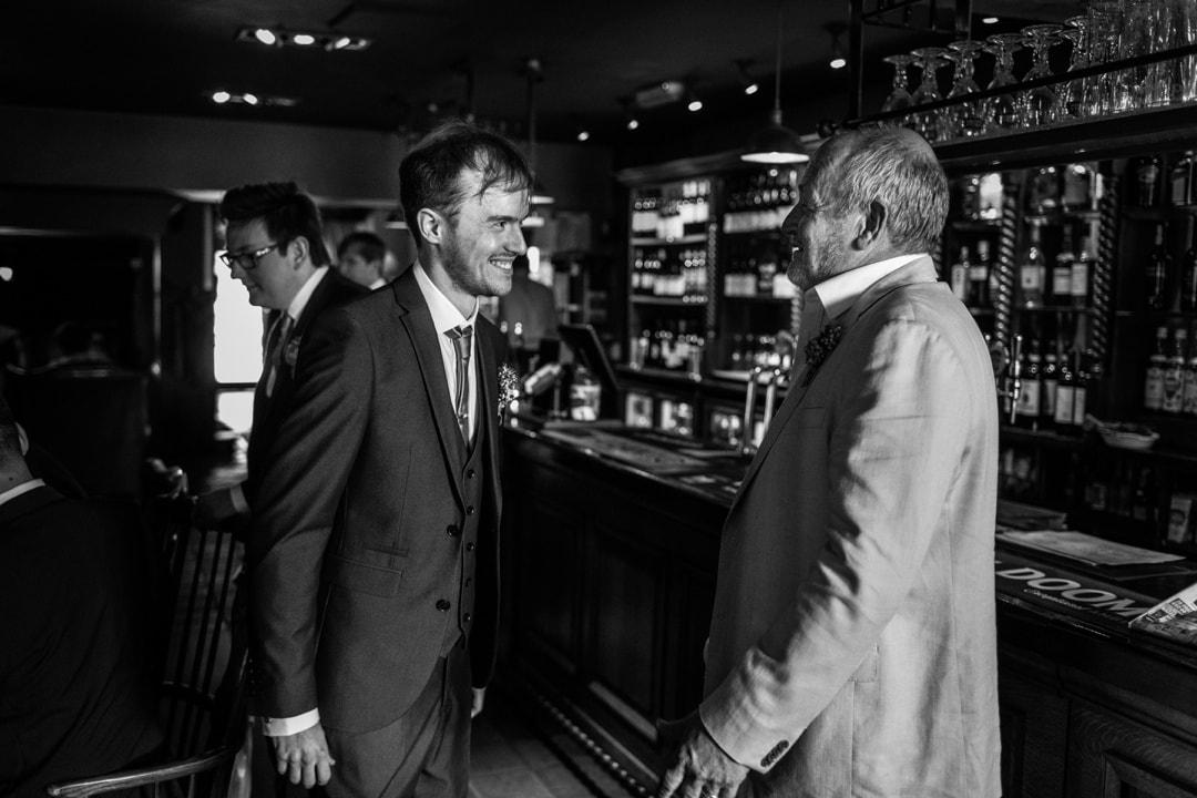 groom in pub