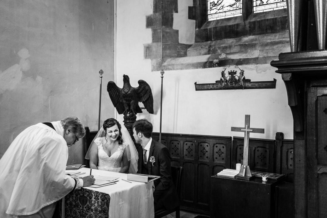 signing register for wedding