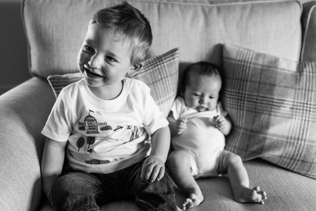 toddler and baby brother