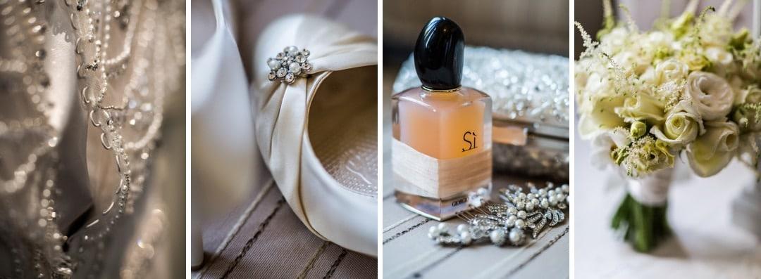 bride's perfume, shoes