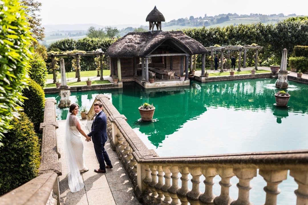 bride and groom during euridge manor wedding