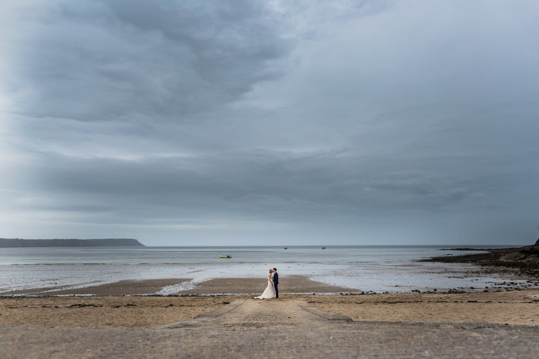 wedding portrait on Oxwich Bay