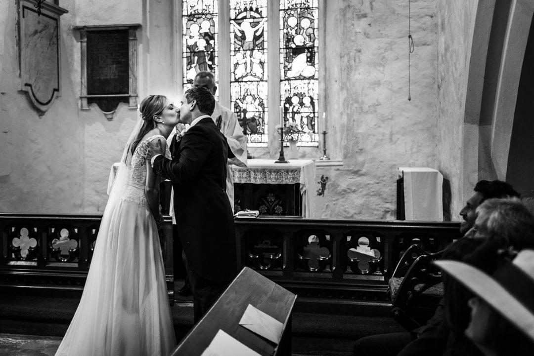 Wedding ceremony at St Nicholas Church, Vale of Glamorgan