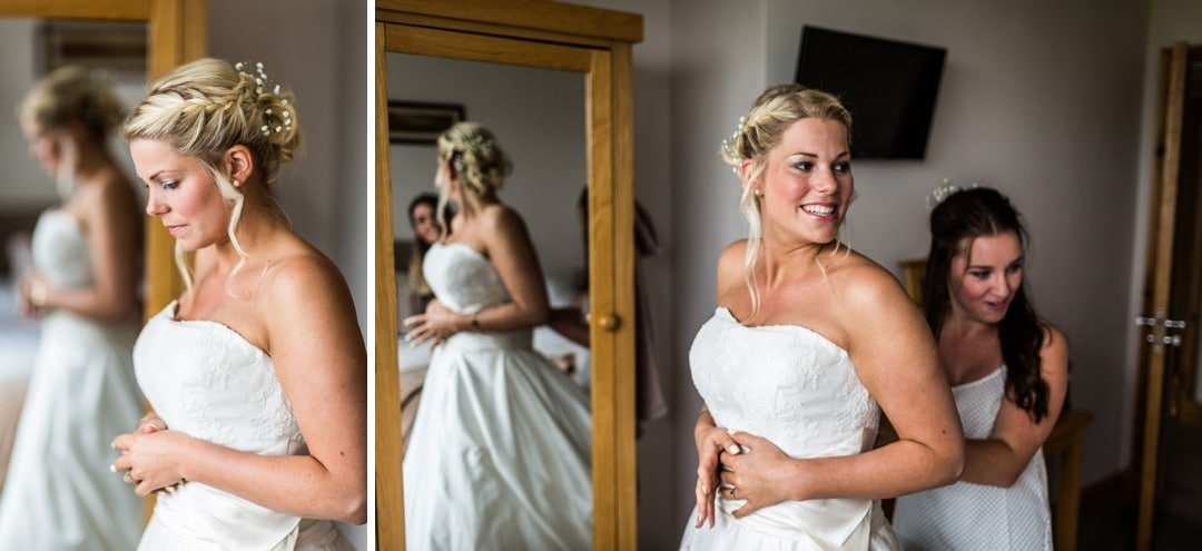 wedding preparatiosn in west Wales