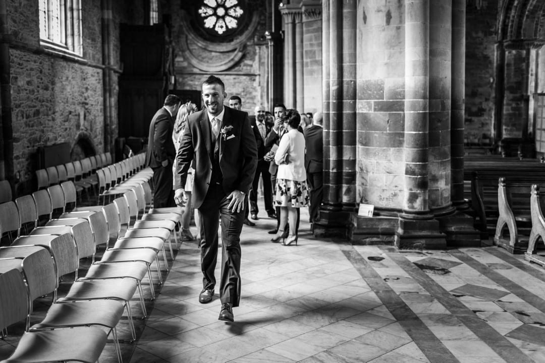wedding ceremony at St David's Cathedral in West Wales