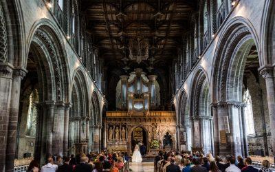 St David's Cathedral & Crug Glas House Wedding – Katie & Mark