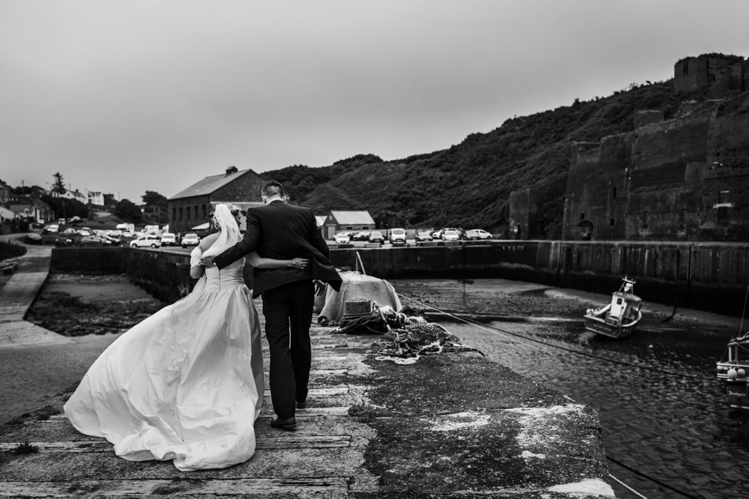 wedding photography at Portgain harbour