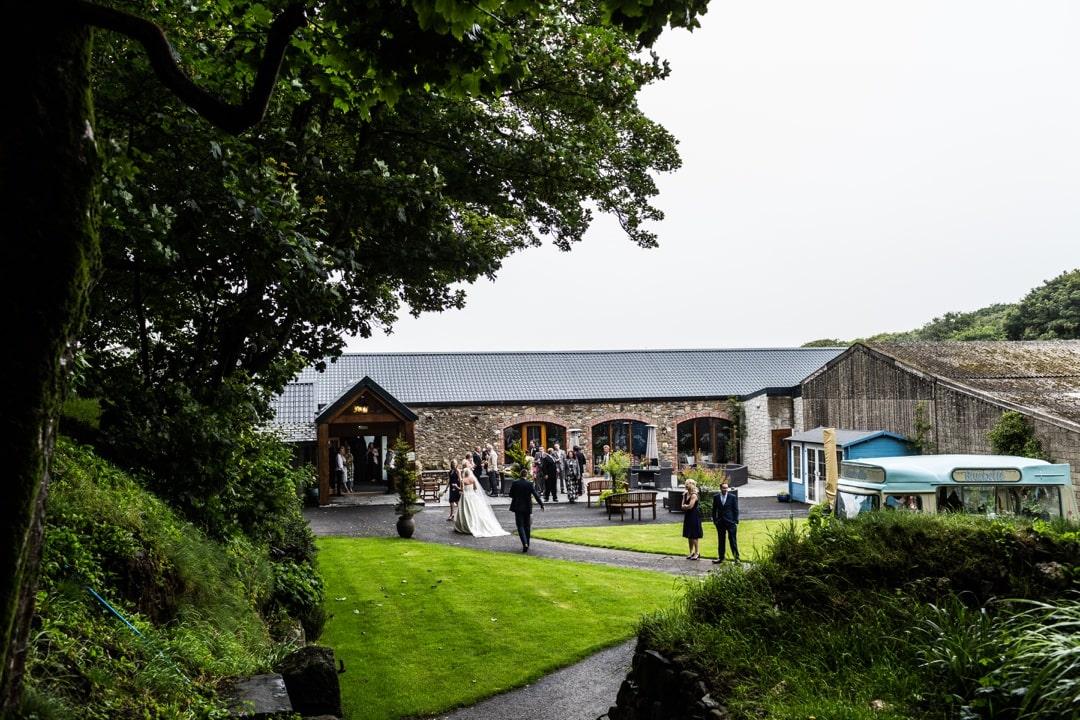 wedding reception at Crug Glas House