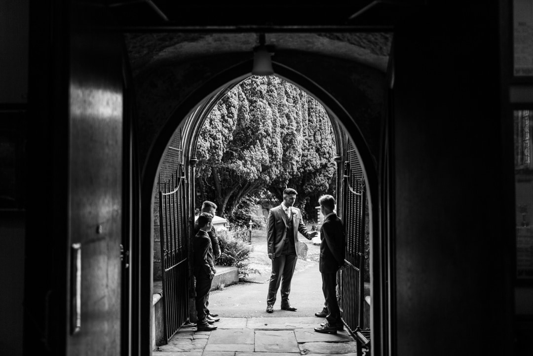 wedding at st mary's priory church