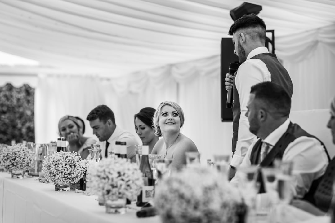 home wedding reception in monmouthshire