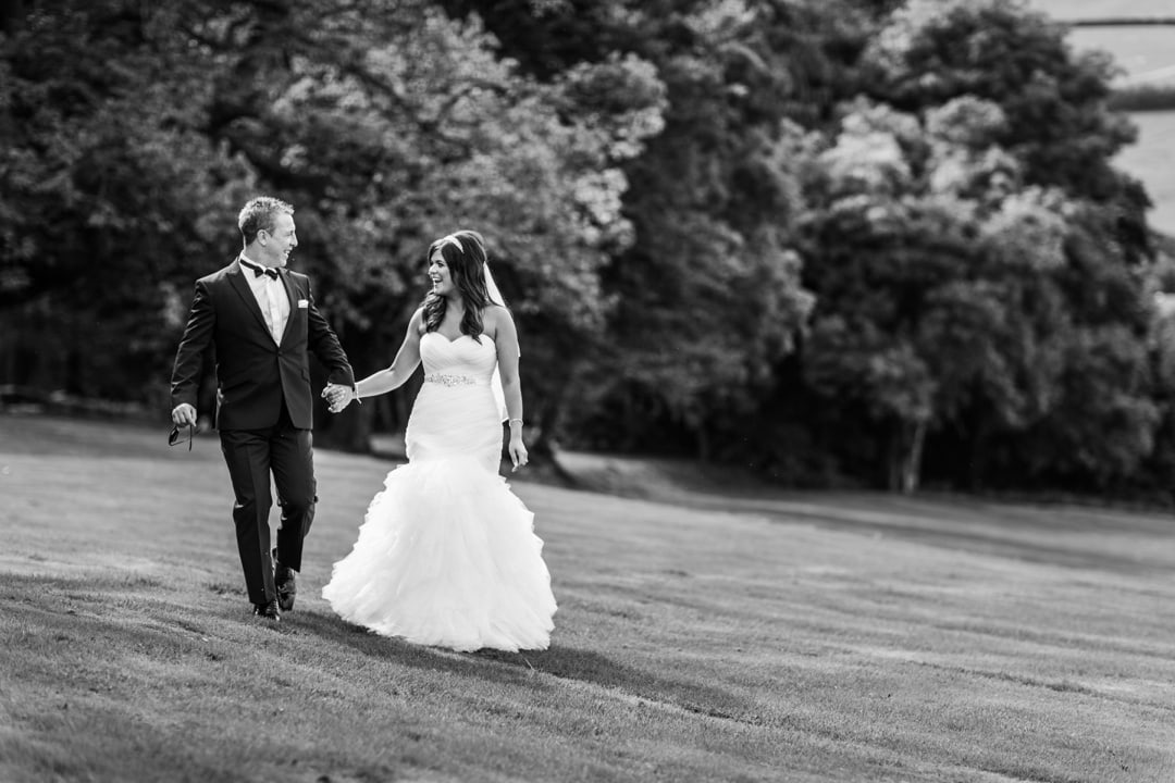 Bride and groom at Buckland Hall