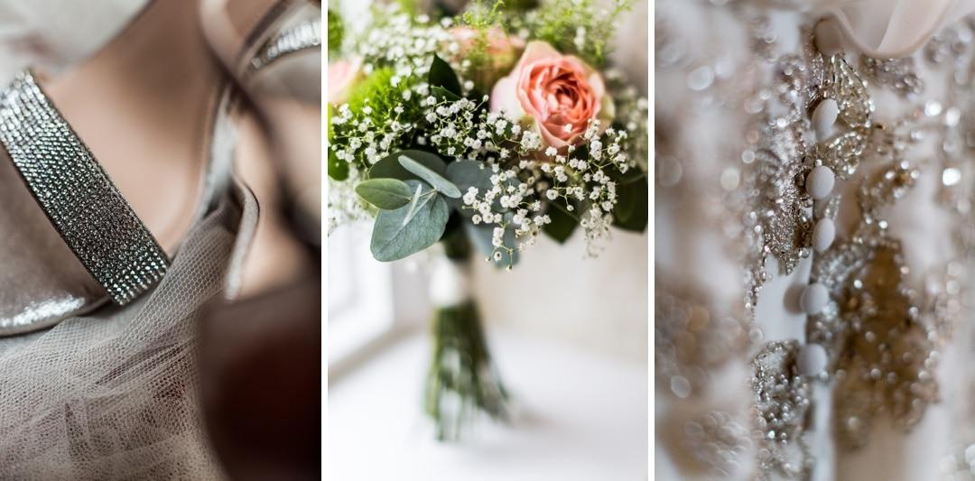 wedding day bridal details for a LLanerch Vineyard wedding