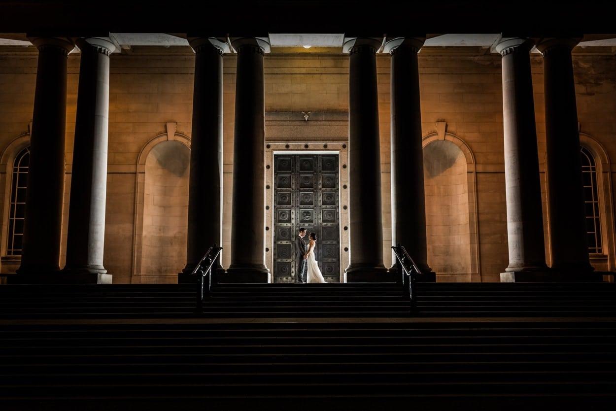 Cardiff Museum Wedding at night