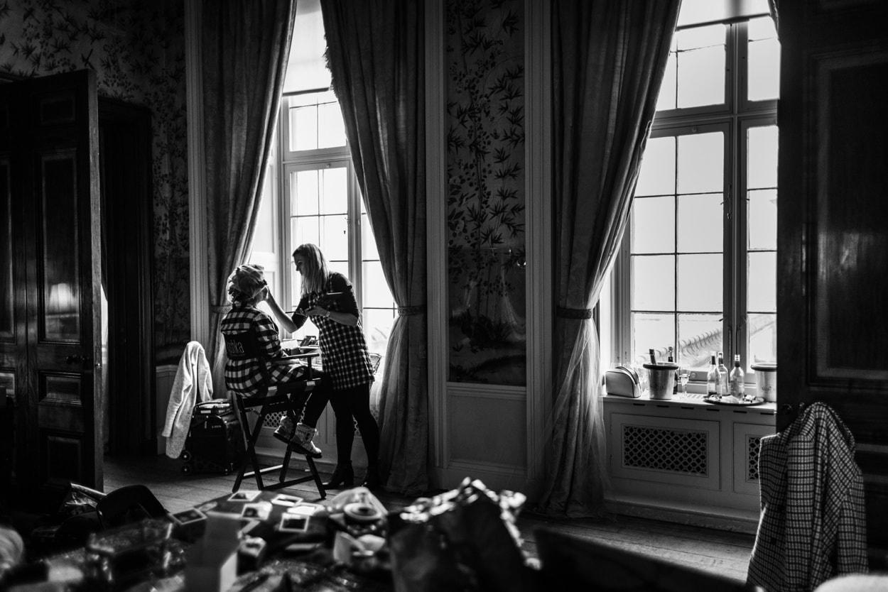 wedding preparations at Belvoir Castle
