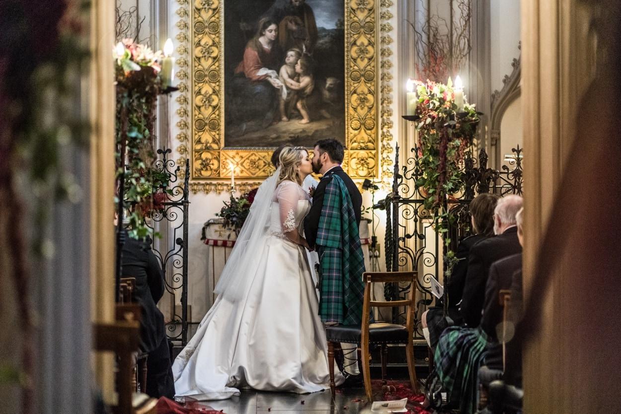 Wedding at Belvoir Castle Chapel