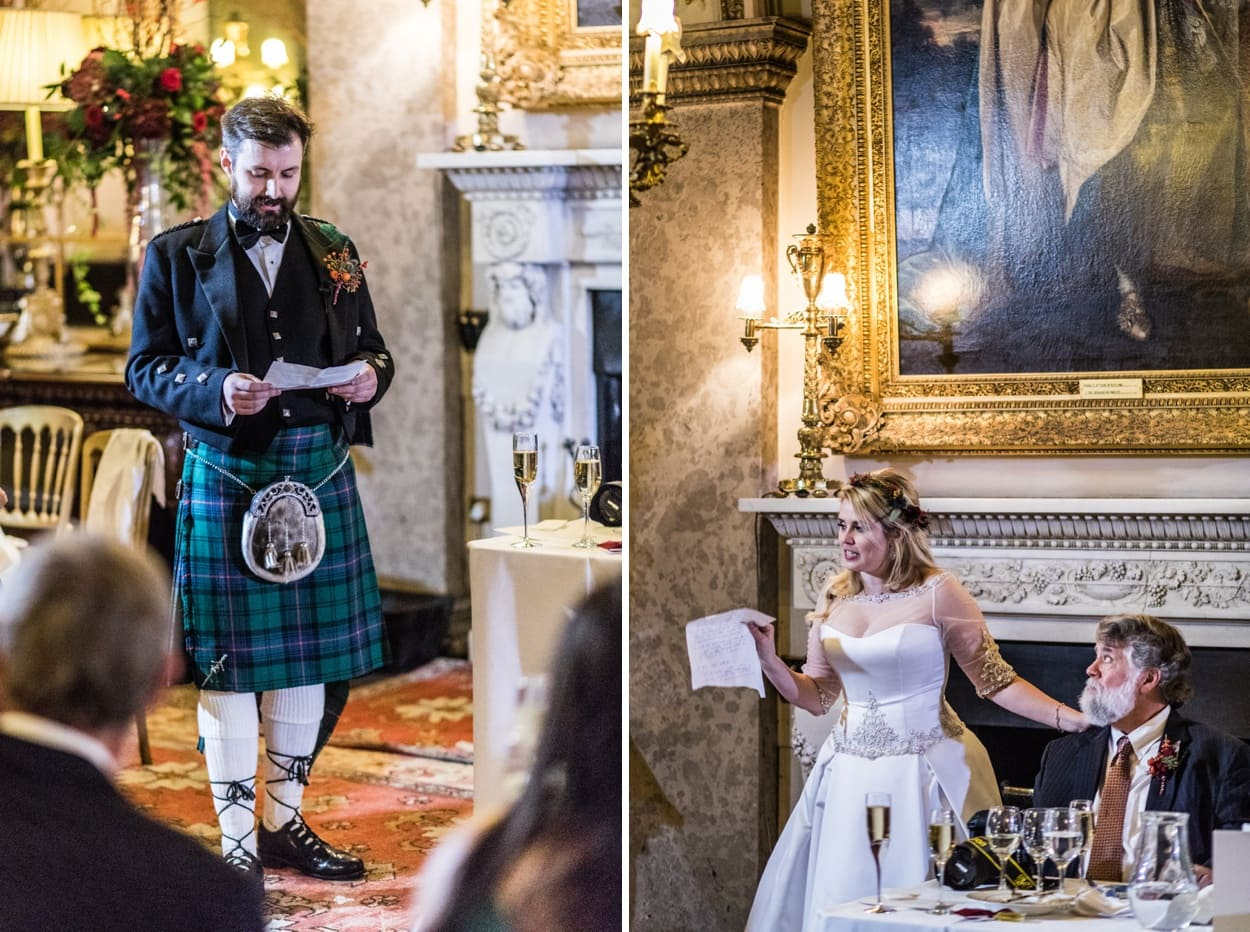 Wedding day speeches at Belvoir Castle