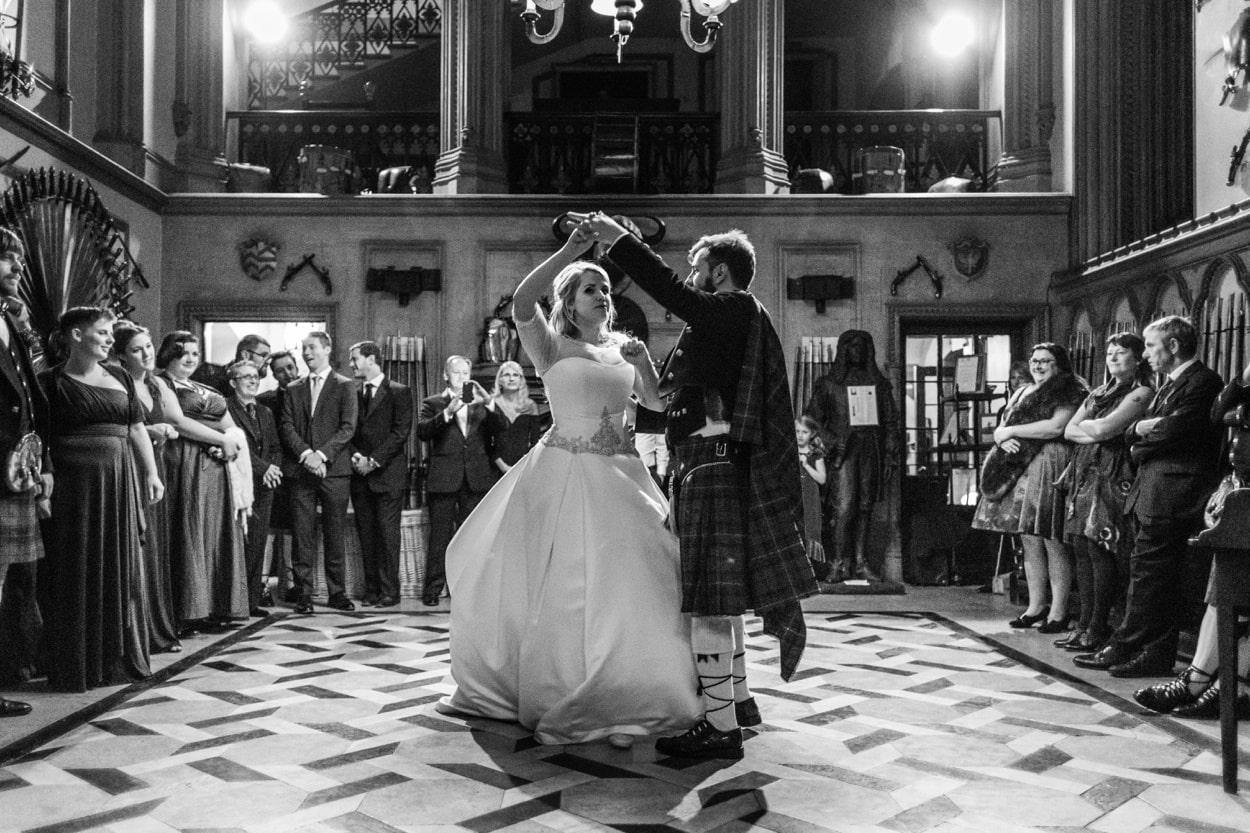 Wedding day dancing at Belvoir Castle