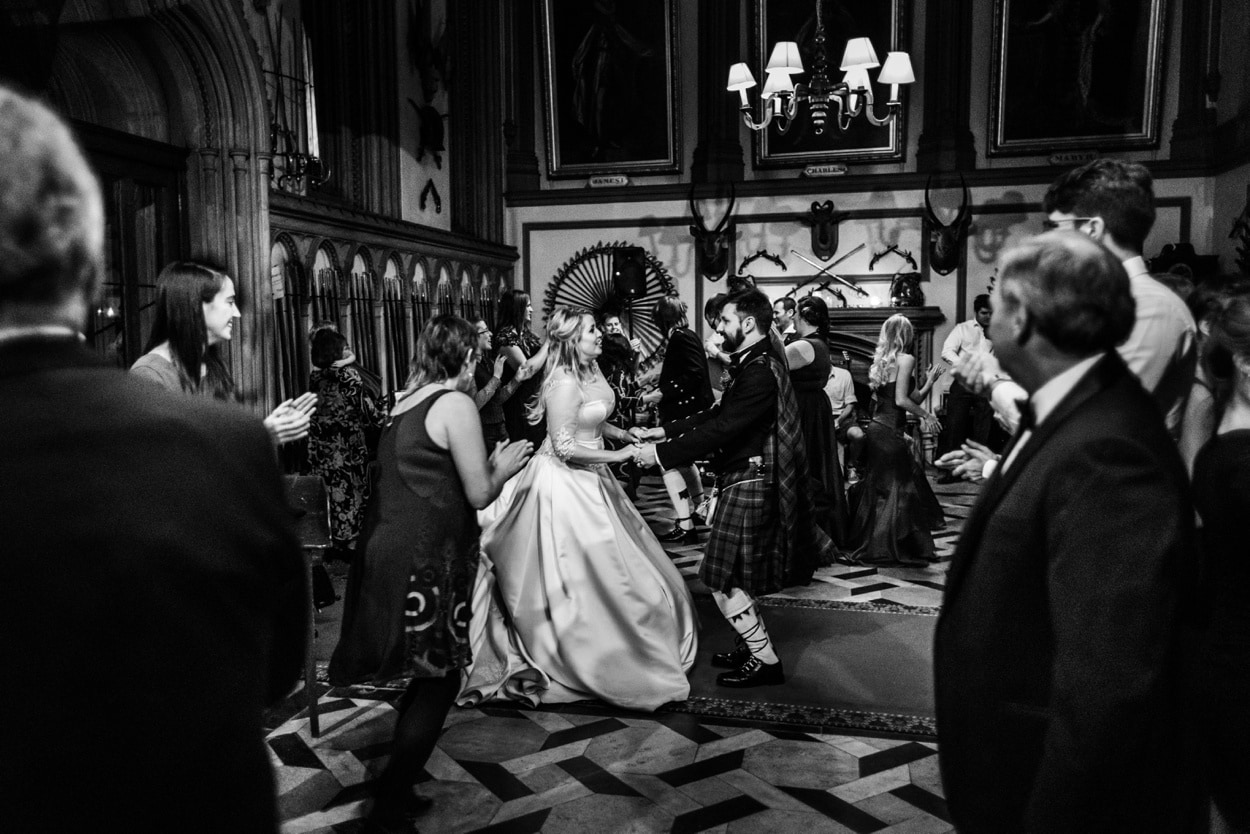 Wedding day dancing at Belvoir Castle