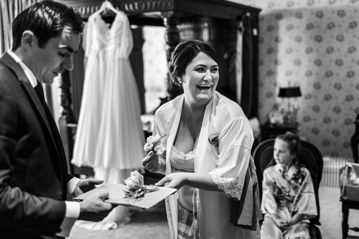 bride in pyjamas