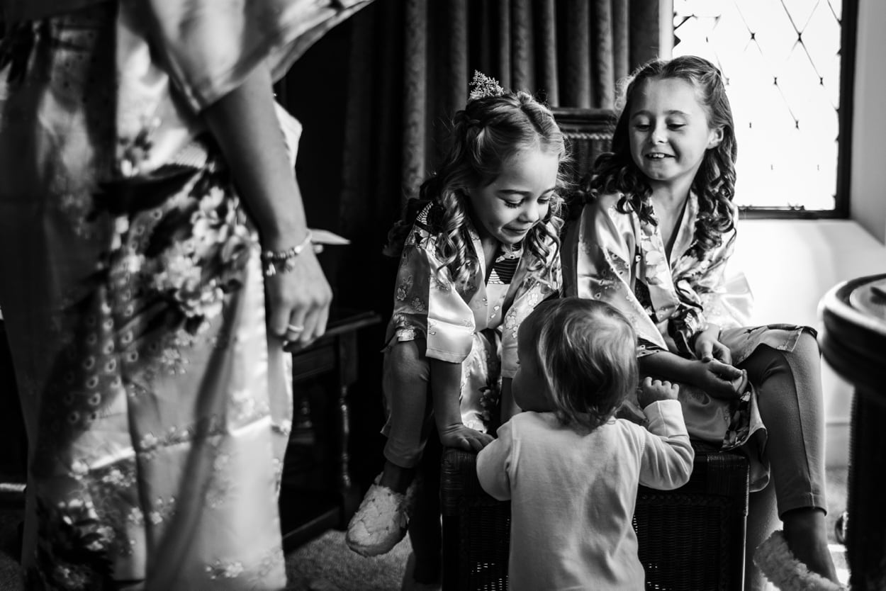 bridal preps at Miskin Manor