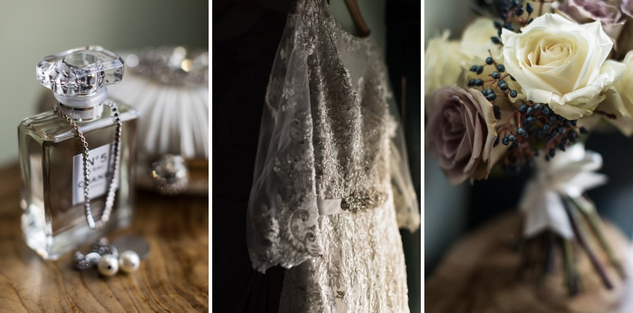 Wedding details at The Corran