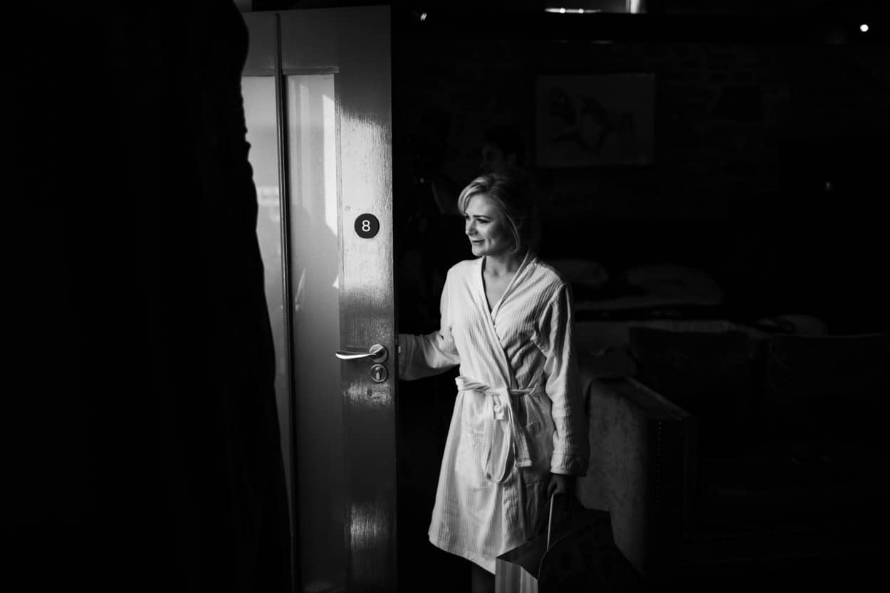 bride getting ready for wedding at The Corran