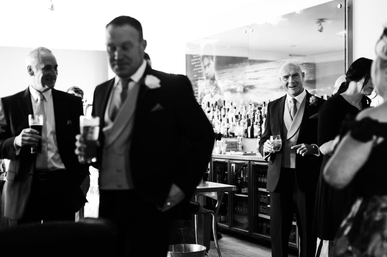 groom waiting for marriage ceremony at The Corran
