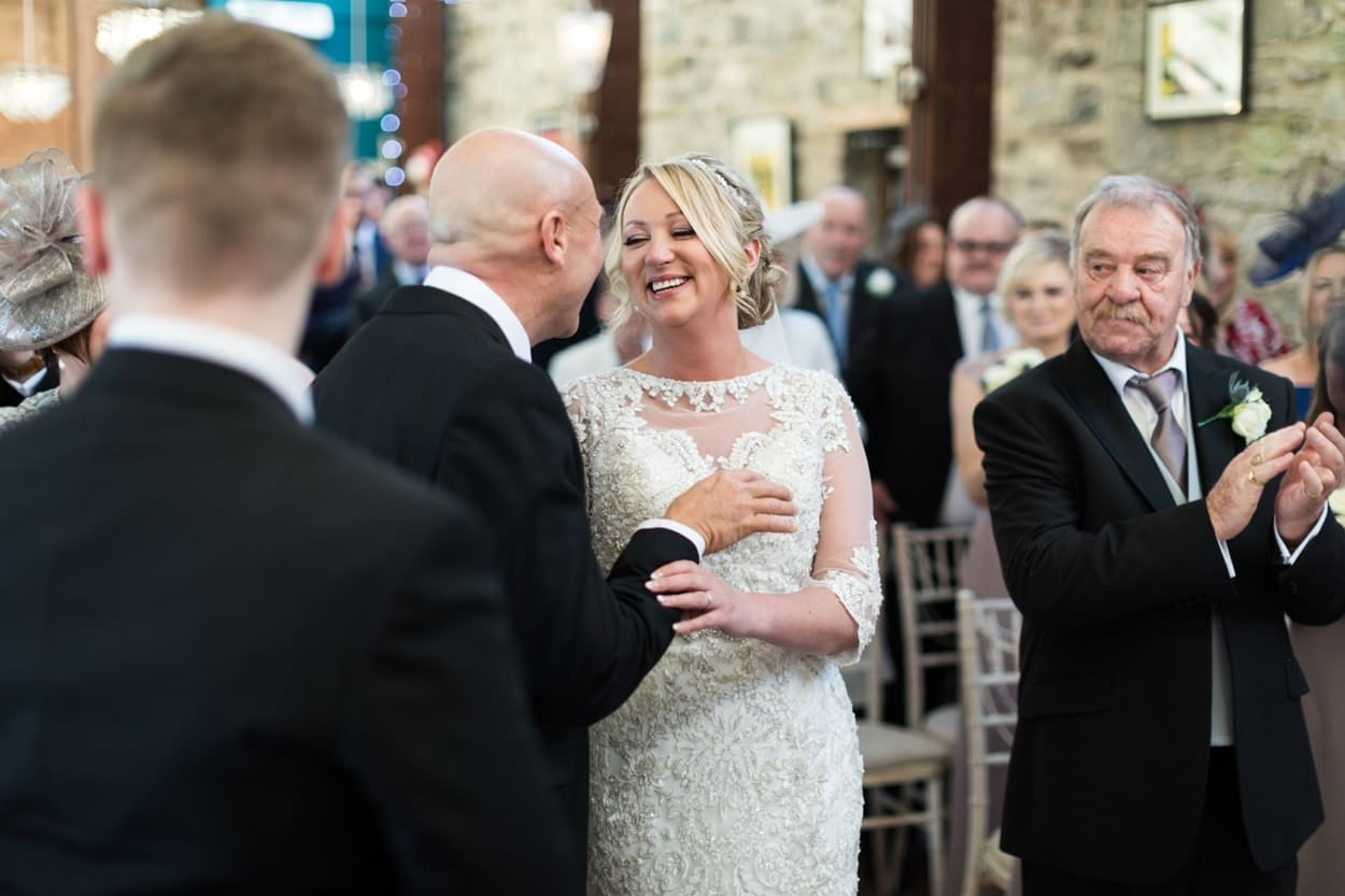 wedding ceremony at The Corran