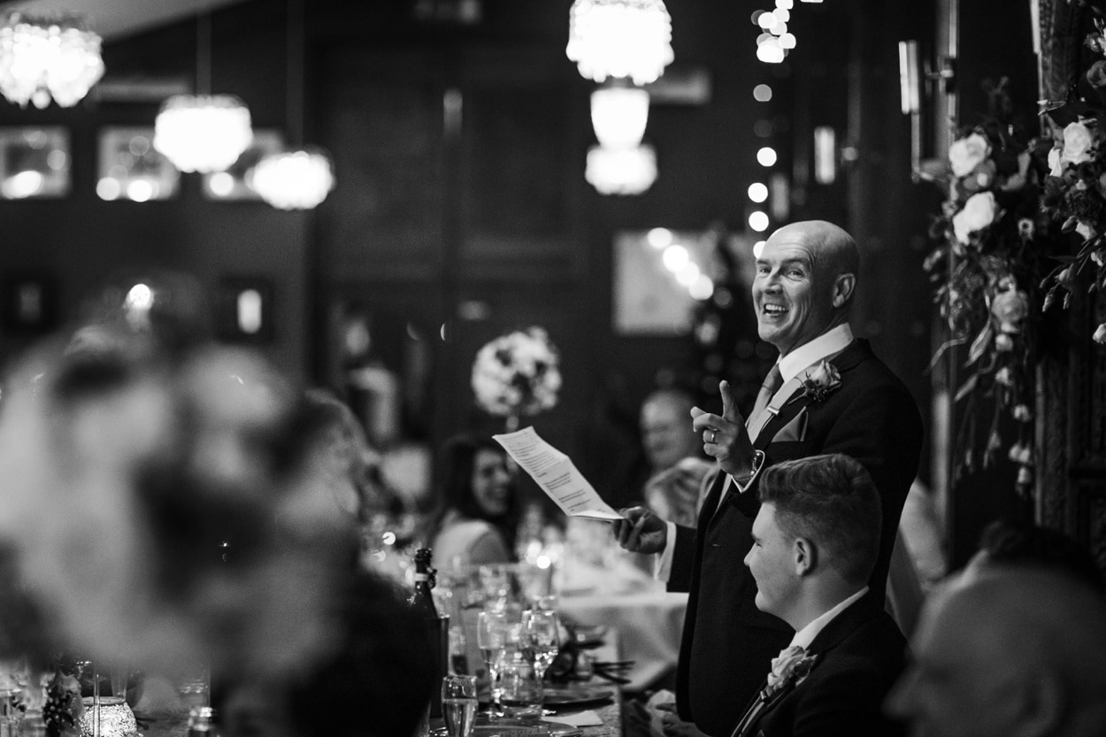 wedding reception speeches at The Corran
