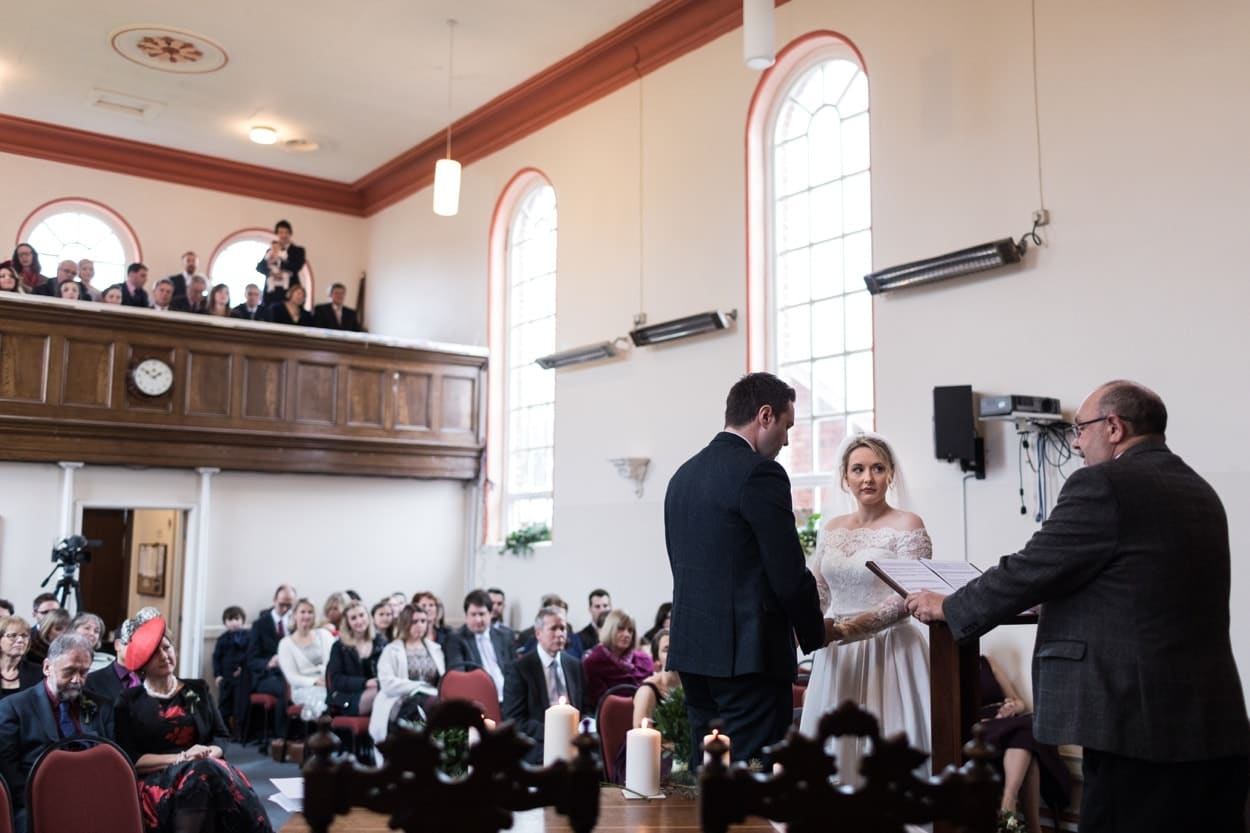 Wedding ceremony Raglan Baptist Church