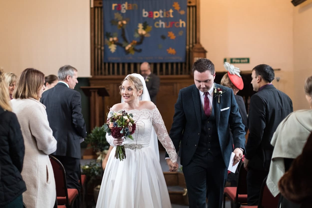 Wedding ceremony Raglan Baptist Church