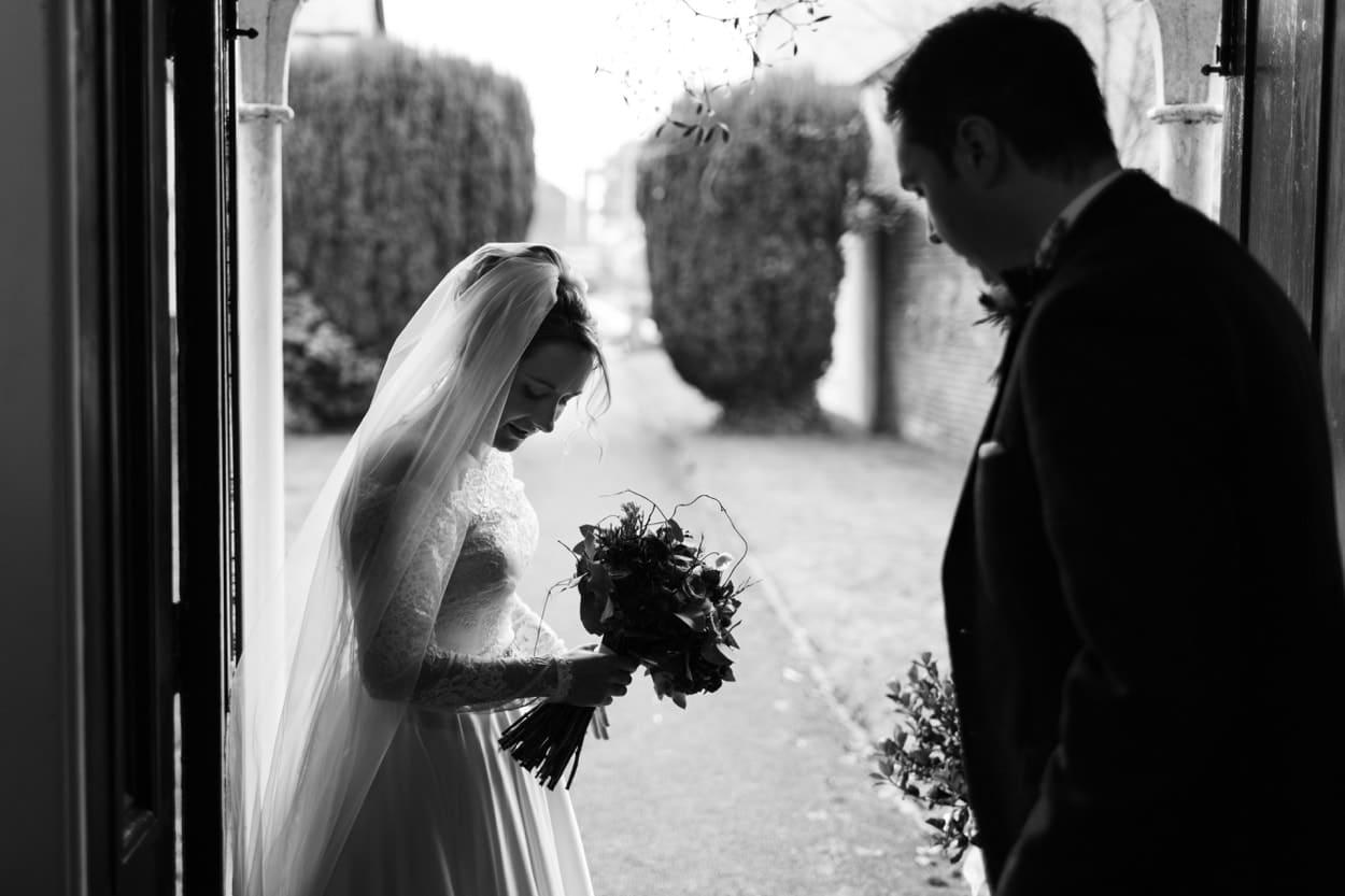 Wedding ceremony Raglan Baptist Church, Monmouthshire