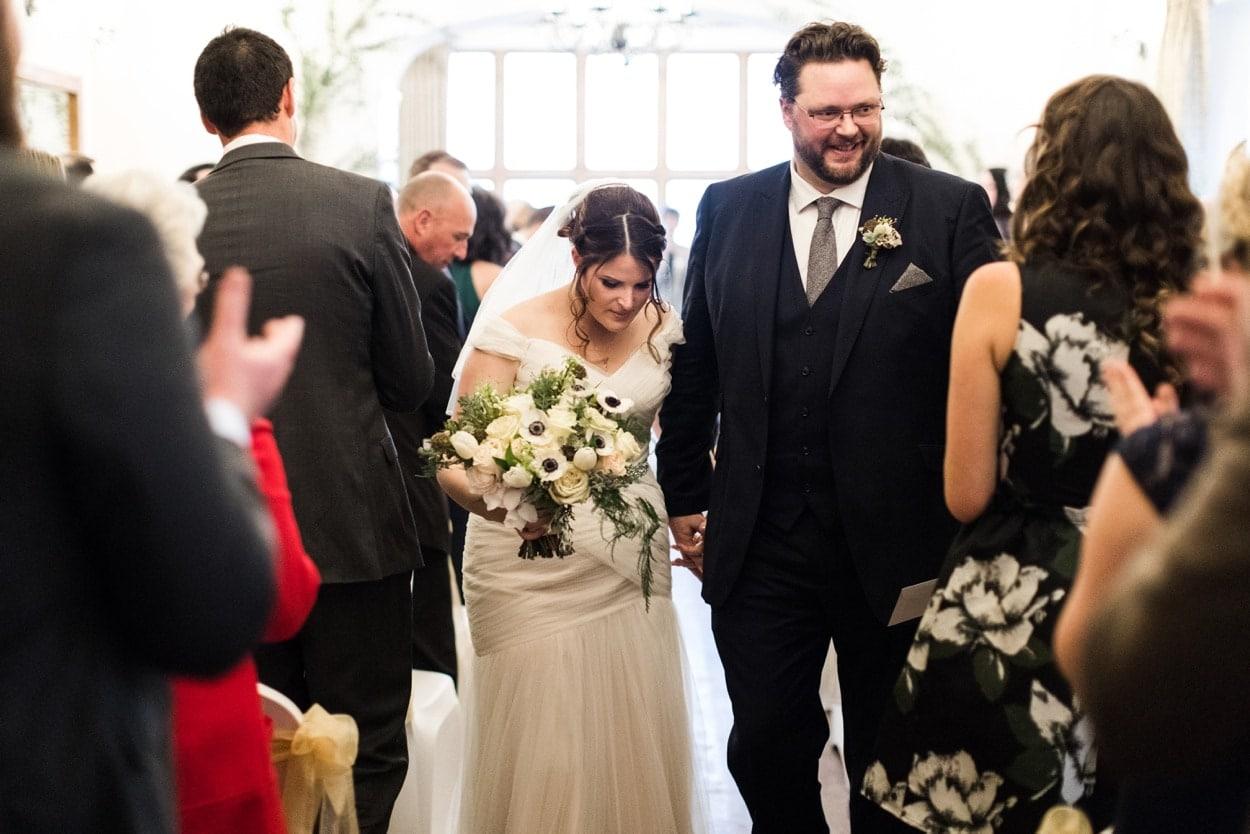 Winter wedding at Caer Llan in Monmoutshire
