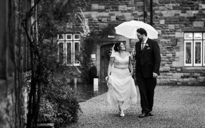 Winter wedding at Caer LLan – Hannah & James